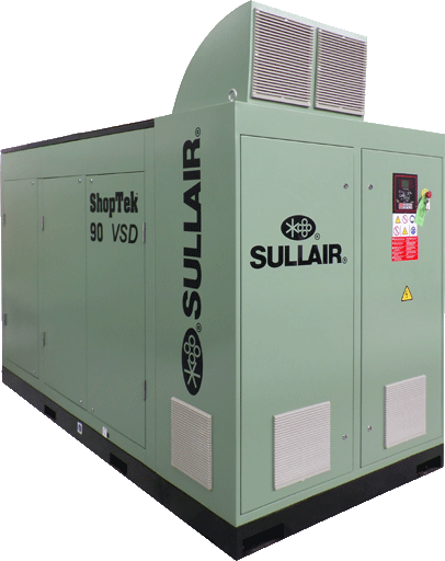 Sullair ShopTek CE ST90VSD rotary screw air compressor