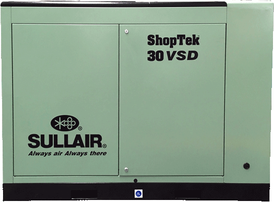 Sullair ShopTek CE ST30VSD rotary screw air compressor