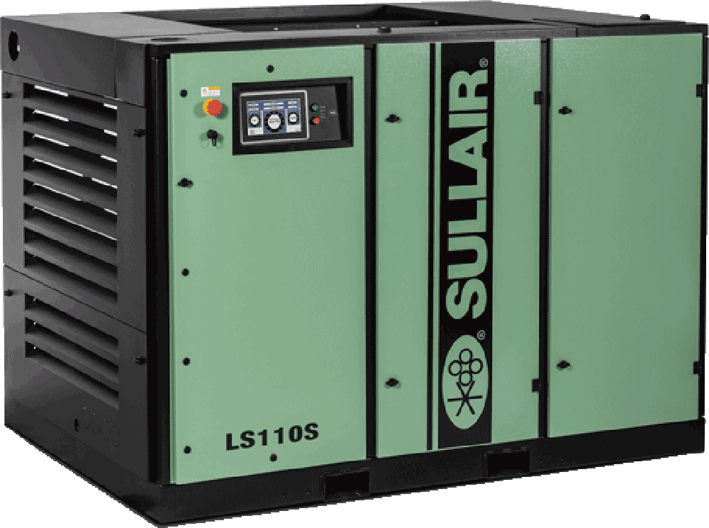LS110S rotary screw air compressor (enclosed)
